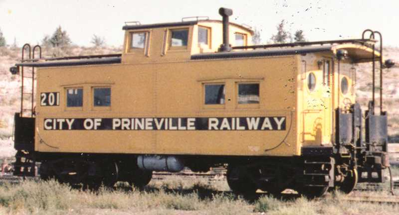 PHOTO COURTESY OF BOWMAN MUSEUM - This photo shows the donated City of Prineville Railway caboose as it looked during the 1970s.