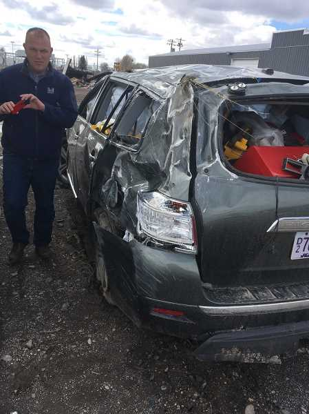 COURTESY PHOTO - The Wallaces' son-in-law drove to the scene of the crash to help them.