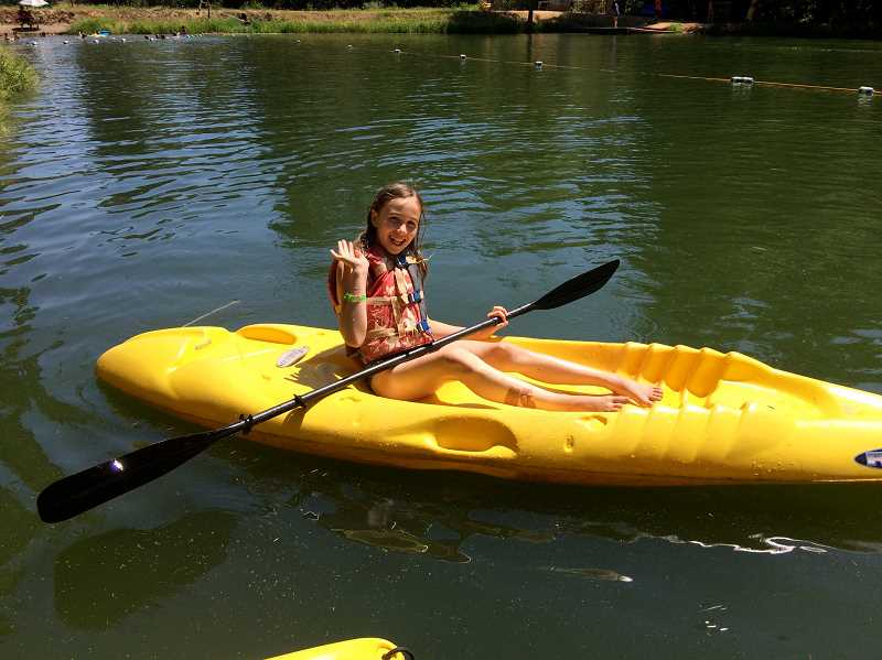 COURTESY PHOTO: CANYONVIEW CAMP - Canyonview Camp allows kids to experience unique outdoor activities, like kayaking.