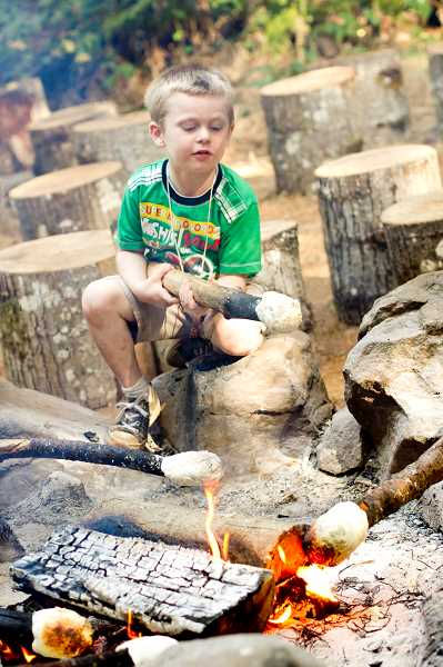 COURTESY PHOTO: CANYONVIEW CAMP - Woodburn Week at Canyonview Camp will keep students active, but will also include fun by the campfire.