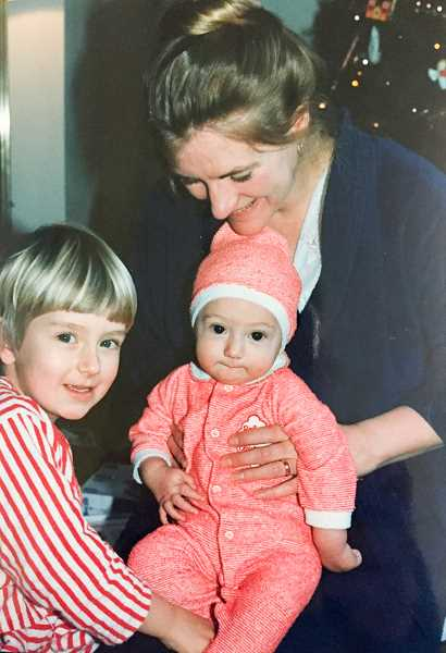 CONTRIBUTED PHOTO - Jane Reid and her sons Will and Matt Warkentin are pictured during 1987.