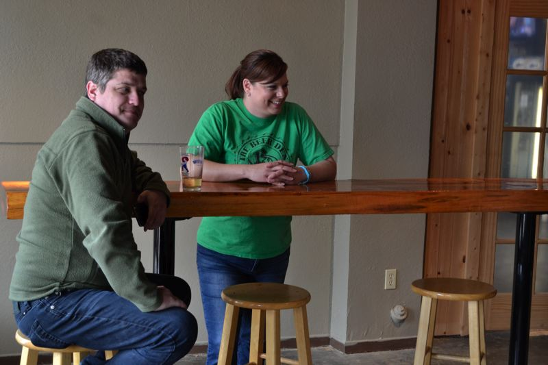 POST PHOTO: BRITTANY ALLEN - Breanne Morton, pictured, has co-owned the Beer Den for seven years.