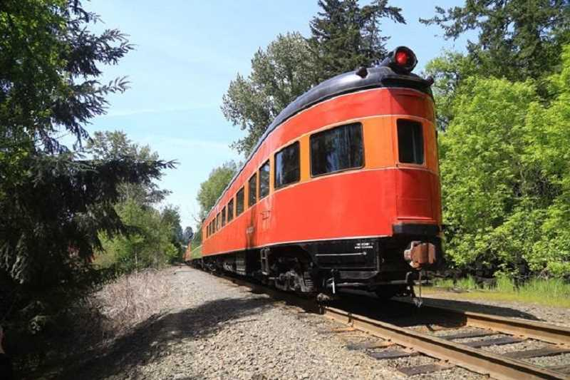 SUBMITTED PHOTO: JIM THOMAS - SP4449 is one of several cool trains on display at the Oregon Rail Heritage Center in Portland. The train traveled through Lake Oswego on Tuesday.