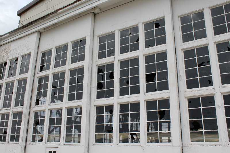 HOLLY M. GILL - About 200 windows were broken out of the north and south hangars at the Madras Municipal Airport.