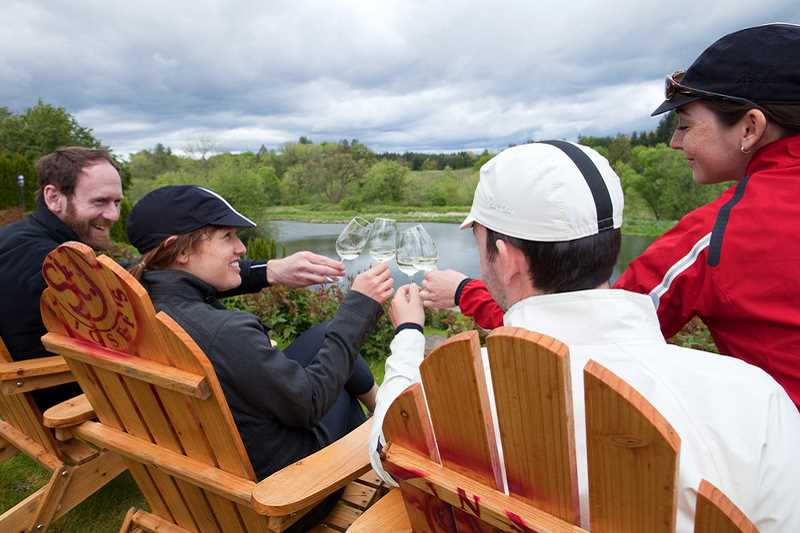 SUBMITTED PHOTO - St. Josefs Winery in Canby invites wine enthusiasts to take a leisurely bike ride in the vineyard then enjoy a barbecue and newly released wines on May 28.
