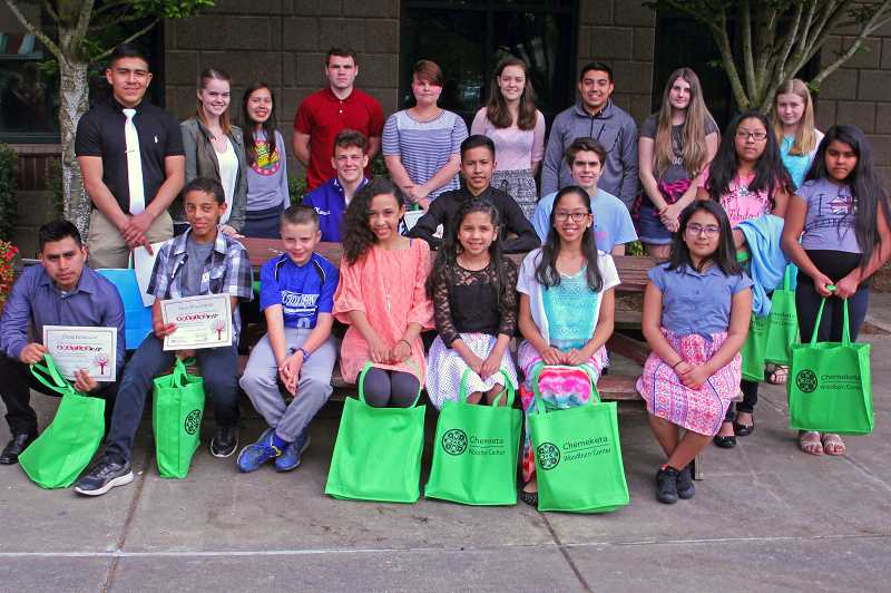 JULIA COMNES - The Independent recognized 21 Amazing Kid nominees May 10 at Chemeketa Community College Woodburn Center.