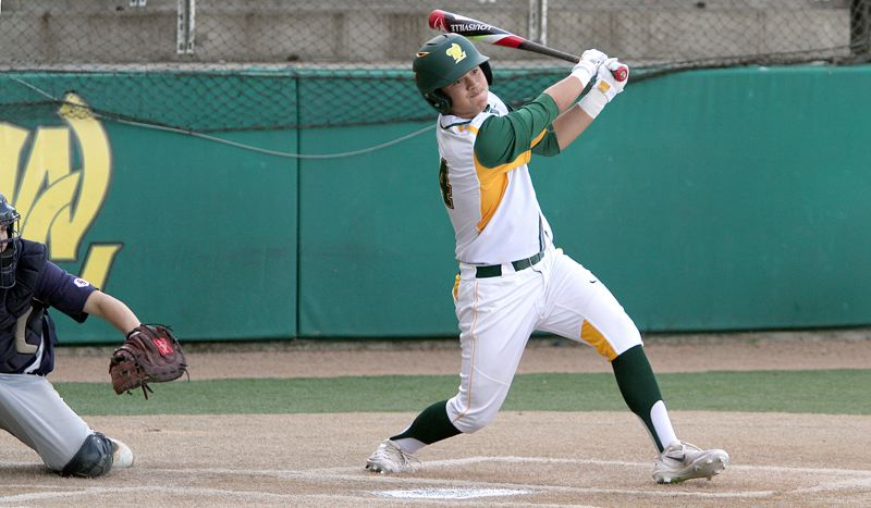 PMG PHOTO: MILES VANCE - West Linn catcher Micah Gibson and the Lions moved into the top spot in this week's OSAA power rankings.