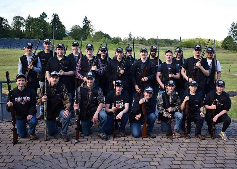 PHOTO COURTESY OF MARTIN MONSEY  - Molalla High School's clay target team.