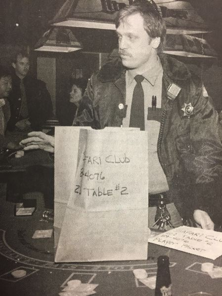"ARCHIVE PHOTO - In 1989, more than 100 police officers participated in a gambling raid at the Safari Club and other establishments in Clackamas County. One Safari Club waitress was critical, asking ""Why did they come in here like the roaring 20s?"""