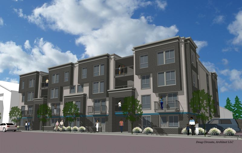 COURTESY: CENTRAL CITY CONCERN - The Interstate Apartments will provide 51 units designed for families. It is set to be completed in 2018.