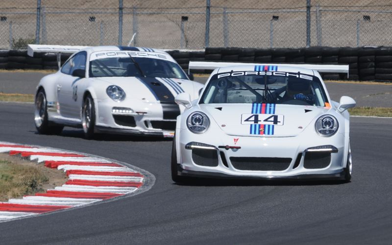 PORTLAND TRIBUNE: JEFF ZURSCHMEIDE - SCCA drivers will gather from across the west to compete in this weekend's Hoosier Racing Tire SCCA Super Tour event at Portland International Raceway. Cars such as these Porsche 996 racers will compete in SCCA's top GT classes on Saturday and Sunday. Admission is free.