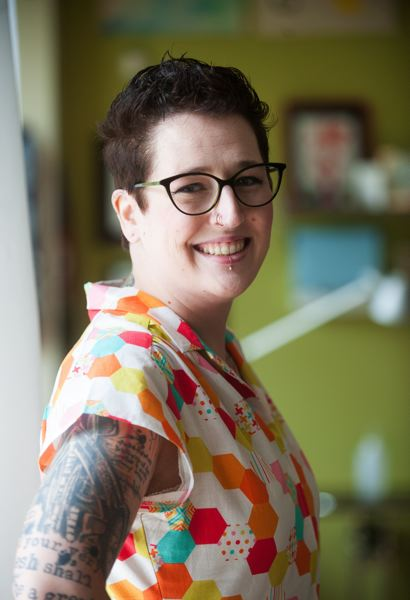 OUTLOOK PHOTO: JOSH KULLA - Gresham native Shelly DeAngio recently opened the Equinox Tattoo Collective in downtown Gresham in the belief that it will be as popular a location as anywhere in the Portland area going forward.