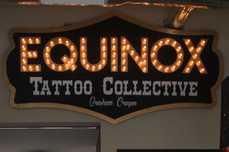 OUTLOOK PHOTO: JOSH KULLA - The Equinox Tattoo Collective is located on Northeast Third Street in downtown Gresham.