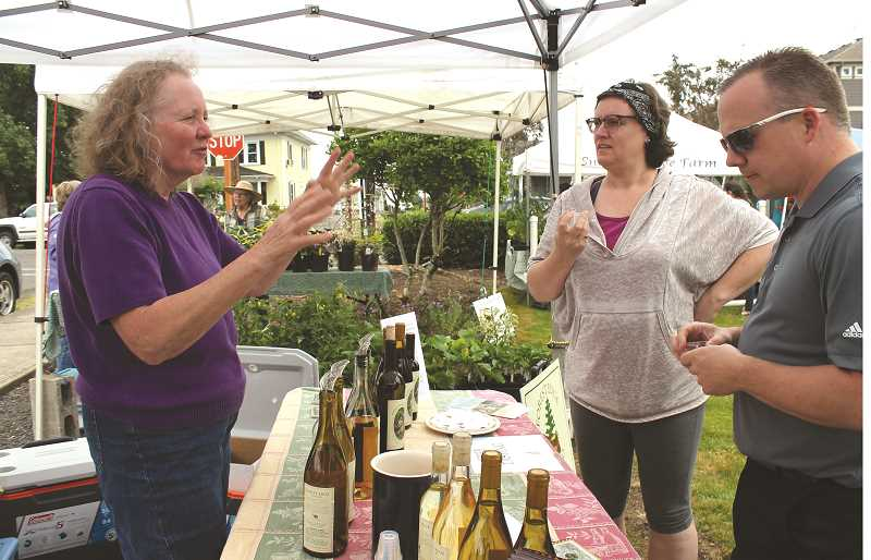 PEGGY SAVAGE - A local winery will offer wine tasting again this year, as well as have wine for purchase at the Molalla Farmers' Market