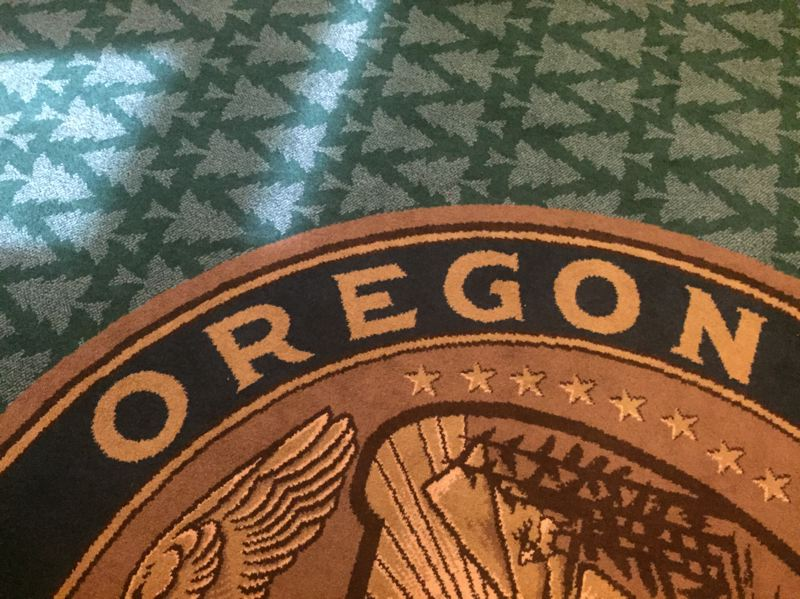 PARIS ACHEN/CAPITAL BUREAU - Carpet inside the Oregon Capitol.