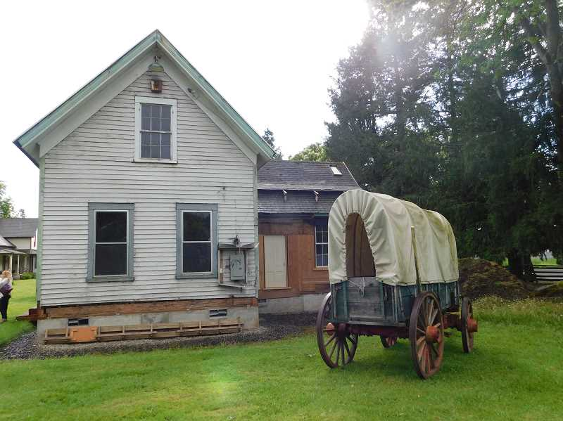 ESTACADA NEWS PHOTO: EMILY LINDSTRAND - Since its move across Highway 211 last summer, Lucys great-grandson Tom Burnett  has been preparing the house for the public and removing any additions created after 1880, which are not considered historic.
