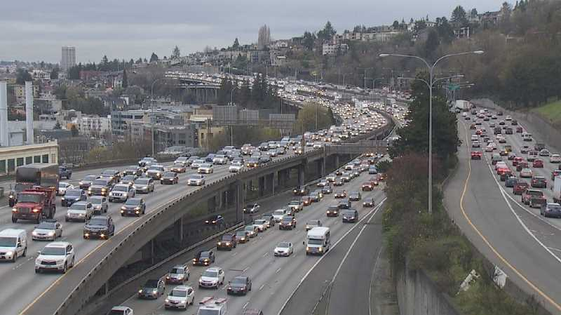 STOCK IMAGE - Portland traffic has increased dramatically during the last five years.