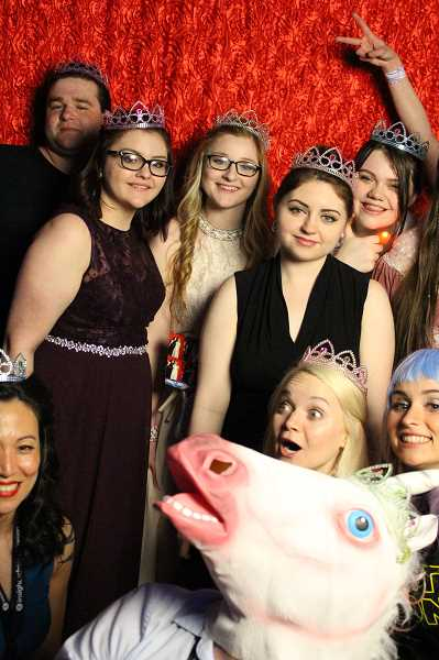 SUBMITTED PHOTO - The Insight School of Oregon-Painted Hills, an online school, hosted its prom Saturday, May 13 at the Tigard Ballroom Dance Co. With students from all over Oregon, including West Linn, the schools prom had a time travel theme, allowing students to dress from any era they choose. Instead of crowing a king and queen, the school announced that everyone is royalty, handing out tiaras to every student.