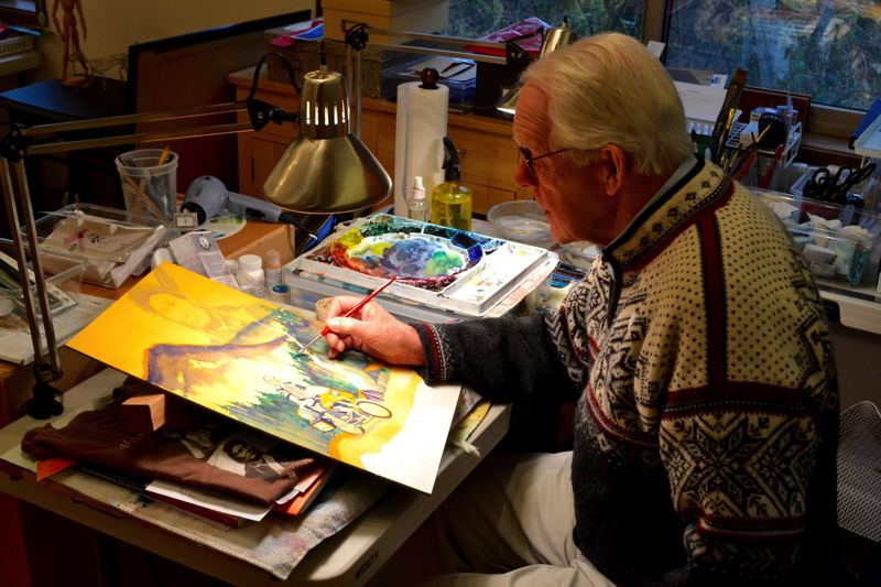 POST PHOTO: BRITTANY ALLEN - Steve Ludeman in his home-based studio in Welches.