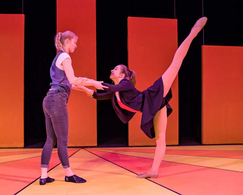 COURTESY TUALATIN HIGH SCHOOL - Tegan Kelly, right, coreographed 'This Year.' She is joined by fellow dancer Abby Cosart.