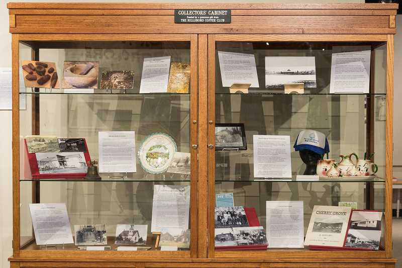 NEWS-TIMES PHOTO: CHRISTOPHER OERTELL - The Gaston display at the WashCo Museum in Hillsboro includes interesting stories of local people as well as artifacts from the Kalapuya tribes that originally lived there and the once-thriving commercial district.