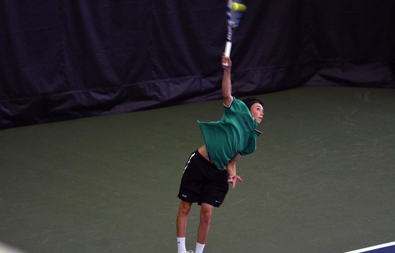 TIMES PHOTO: MATT SINGLEDECKER - Jesuit freshman Peter Murphy won the Metro League singles crown on Saturday.