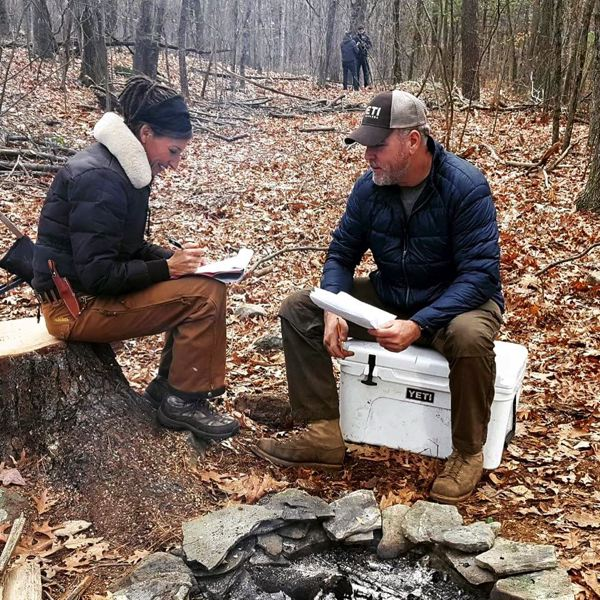 COURTESY PHOTO - Nicole Apelian and partner Alan Kay, another contestant on 'Alone,' complement each other in their knowledge of survival skills. They're consulting on the movie 'My Abandonment.'