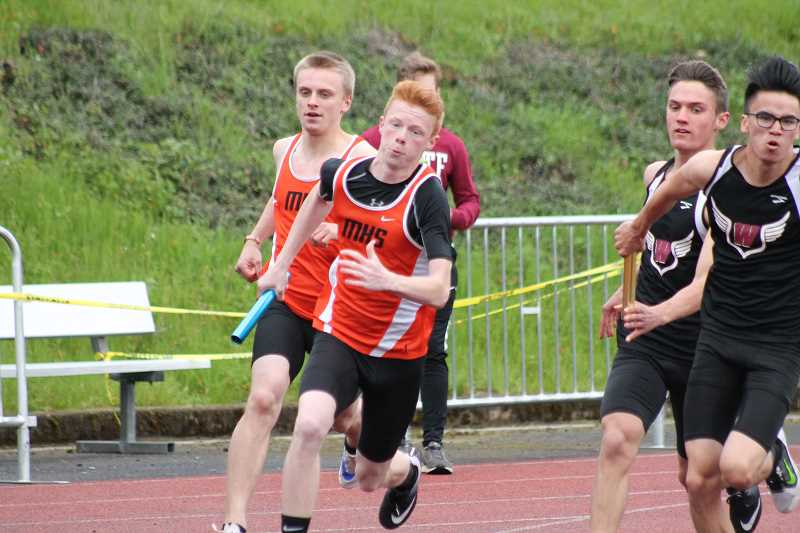 PIONEER PHOTO: CONNER WILLIAMS  - Molalla sophomores Treyton Bierly (left) and Tanner Nauta