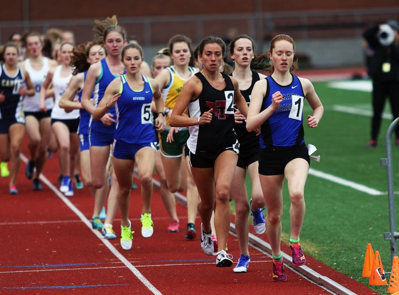 DAN BROOD - Tualatin senior Kate Intile (2) qualified for the Class 6A state meet in both the 1,500 and the 3,000.