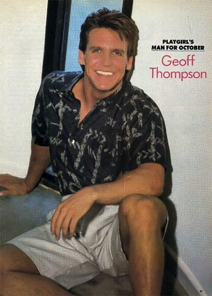 CONTRIBUTED - A clothed picture taken from Geoff Thompson's 'Playgirl' centerfold.