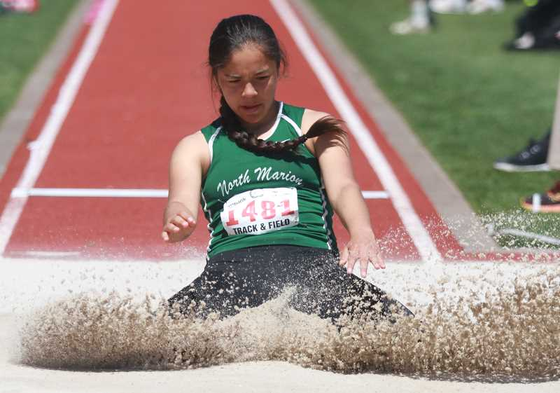 PHIL HAWKINS - North Marion sophomore Mar Verastegui placed 14th in the 4A girls long jump on Friday.