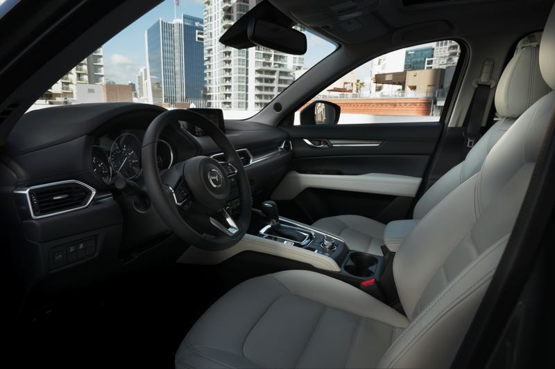 MAZDA NORTH AMERICAN OPERATIONS - The interior of the 2017 Mazda C-X 5 blends quality materials with a sophisticated desgin.