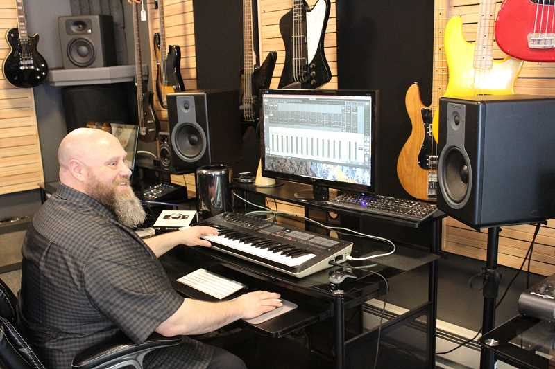 CONNECTION PHOTO: HANNAH RANK - Norvin Johnson envisions his space on Southwest Troy Street as not just a recording studio, but a multi-faceted production company.