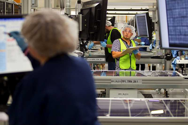 HILLSBORO TRIBUNE FILE PHOTO - SolarWorld announced Monday, April 22, it had filed a mass layoff notice for all employees at its Hillsboro location.