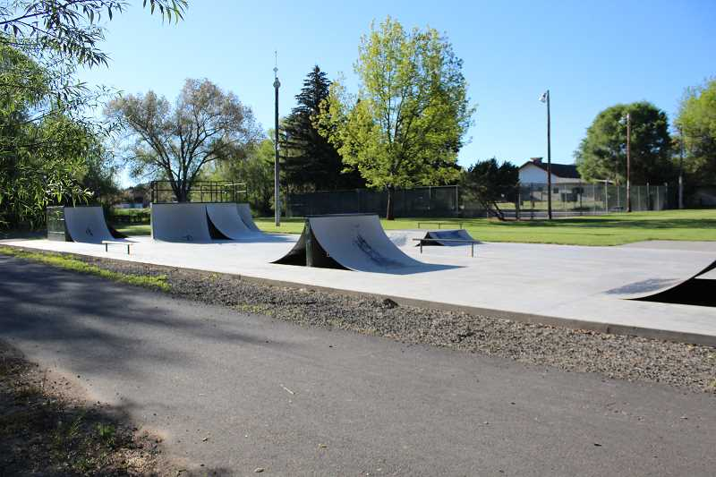 JASON CHANEY - The Crook County Parks and Recreation District hopes to secure enough grant funding to expand its skate park, renovate its tennis courts, and light the nearby portion of the Ochoco Creek bike path.