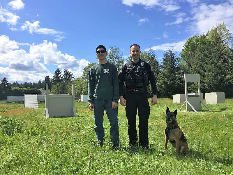 Eagle Scout project creates new obstacle course for police K9
