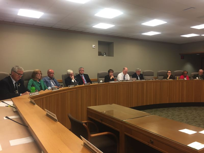PARIS ACHEN/CAPITAL BUREAU - Members of the Joint Committee on Transportation Preservation and Modernization meet May 17, 2017, at the Oregon Capitol in Salem.