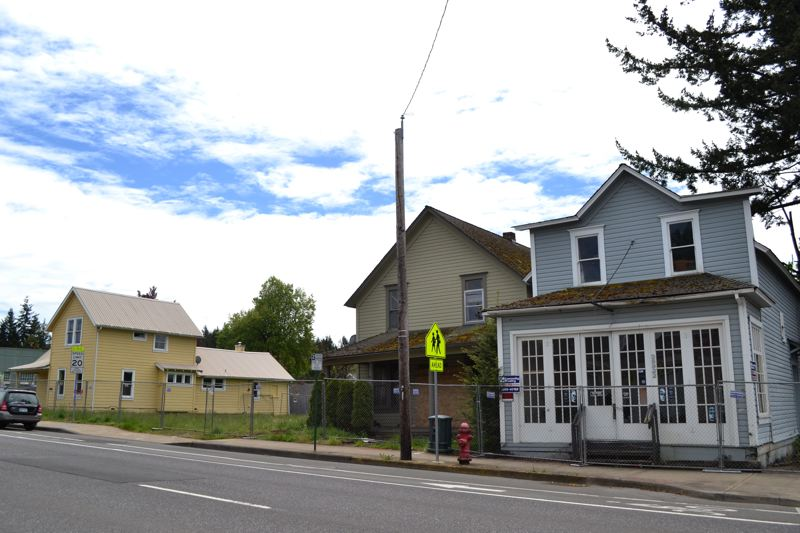 POST PHOTO: BRITTANY ALLEN - The properties to be demolished at 38922-38953 Pioneer Blvd., Sandy.