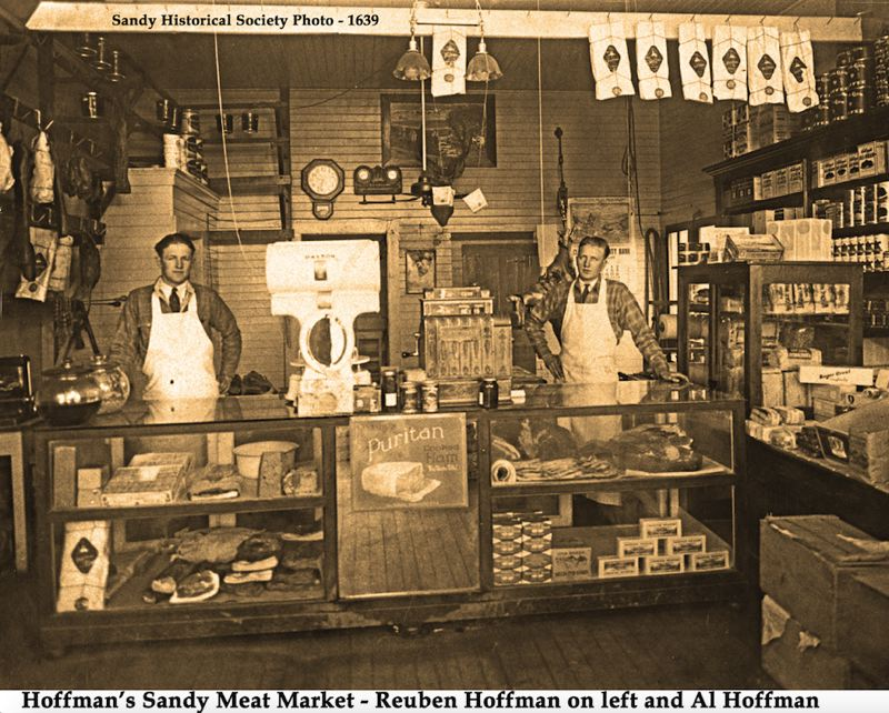CONTRIBUTED PHOTO - In its heyday, the white house that sits on the property was the Hoffman Meat Market, which was originally opened by Ludwig Hoffman in 1909. The space has sat vacant since its short stint as a convenience store in 2012.