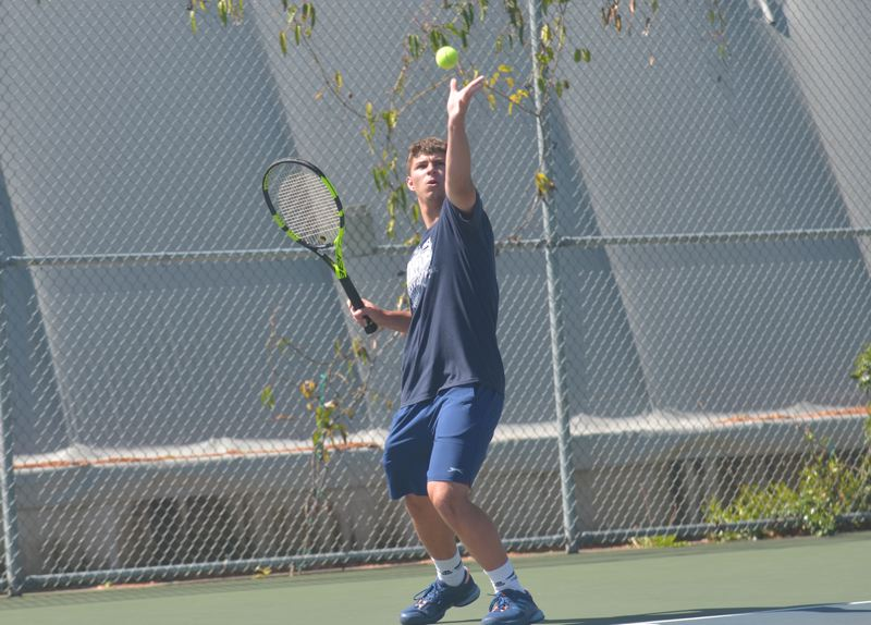 SPOKESMAN PHOTO: COREY BUCHANAN - Wilsonville sophomore tennis player Jack Roche reached the quarterfinals of the 5A singles bracket at the Oregon State Championships May 18-20.
