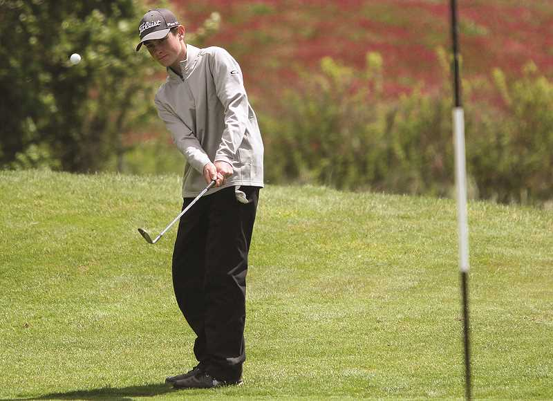 SUBMITTED PHOTO: MILES VANCE - Canby sophomore boys golfer Sam Krauss placed 16th in 6A at the Oregon State Championships and shot a 76 and a 79 in two rounds at Quail Valley Golf Course in Banks May 15-16.