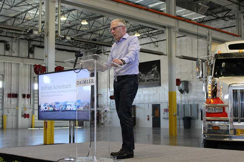 HOLLY M. GILL - Wilfried Achenbach, senior vice president of engineering for Daimler Trucks North America, describes the new test facility as 'state-of-the-art.'