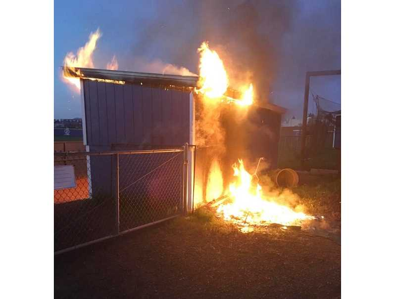 MHS baseball dugout burns in suspicious fire