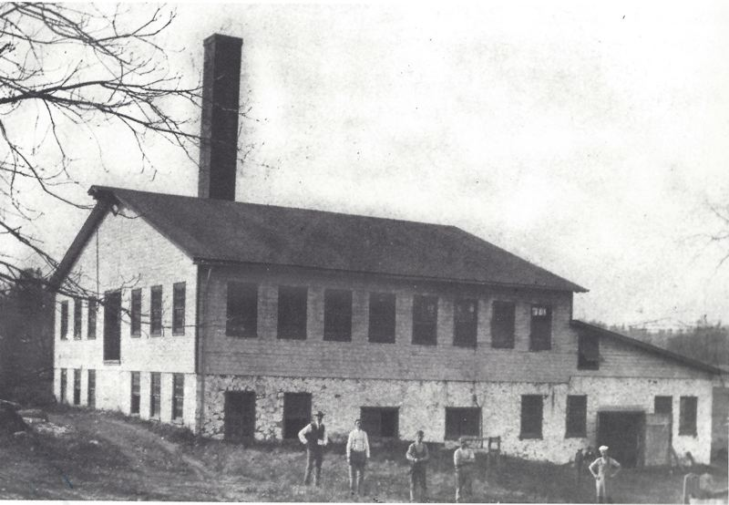 PHOTO COURTESY: HISTORIC SUGARTOWN, INC. - Undated 19th-century photo showing the Garrett Paper Mill, Willistown Township, Pennsylvania.