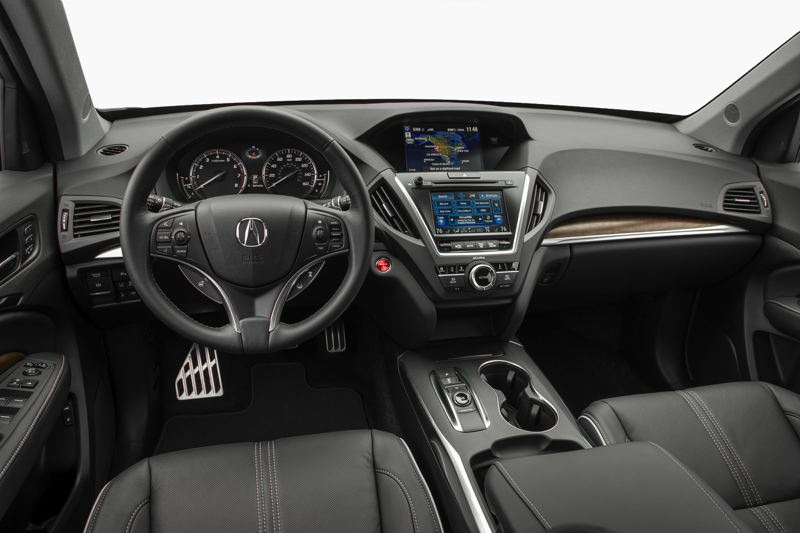 AMERICAN HONDA MOTOR CO. - The interior of the 2017 Acura MDX Sport Hybrid is smartly designed and outfitted with high quality materials and the latest automotive technologies.