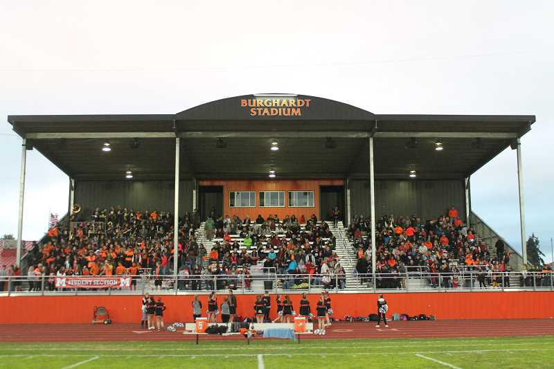 PIONEER PHOTO: CONNER WILLIAMS - Burghardt Stadium in Molalla, Ore.