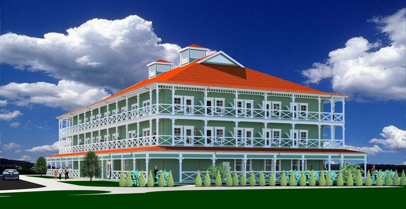 COURTESY: MCMENAMINS - The new McMenamins hotel in Kalama, Washington, is patterned after the historic Pioneer Inn in Lahaina, Maui in Hawaii.  It's set to be completed — and marketed to Portland-area folks — in early 2018.