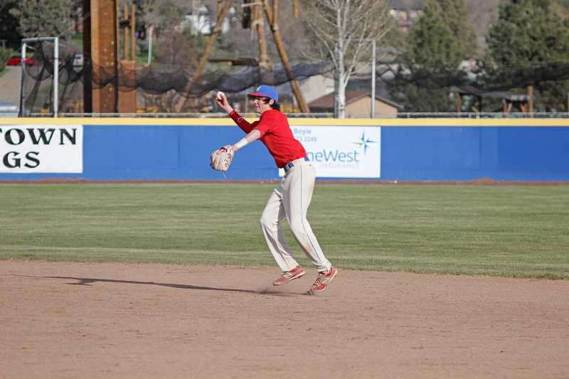 WILL DENNER/MADRAS PIONEER -  Junior Lewis Fine was named a first-team all-TVC infielder.