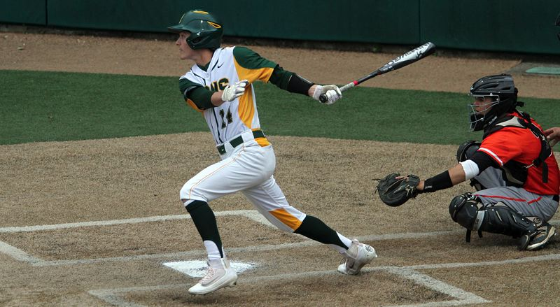 TIDINGS PHOTO: MILES VANCE - West Linn senior outfielder Chase Cosner and the top-ranked Lions will meet No. 2 Clackamas in the Class 6A state title game at 5 p.m. Saturday at Volcanoes Stadium in Keizer.