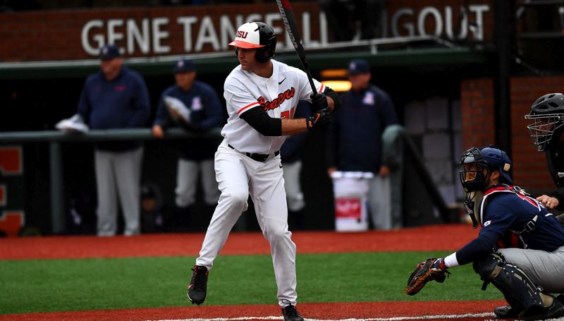 COURTESY: SCOBEL WIGGINS - Junior outfielder Jack Anderson, from Lake Oswego High, has started most of the past two seasons for Oregon State, which opens NCAA tournament play on Friday in Corvallis ranked No. 1 in the nation.